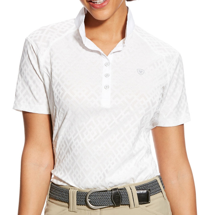 Ariat Womens Showstopper Show Shirt in White - RedMillsStore.ie