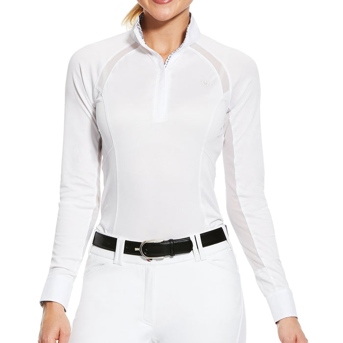 Ariat Womens Sunstopper Pro 2.0 Show Shirt in White - RedMillsStore.ie