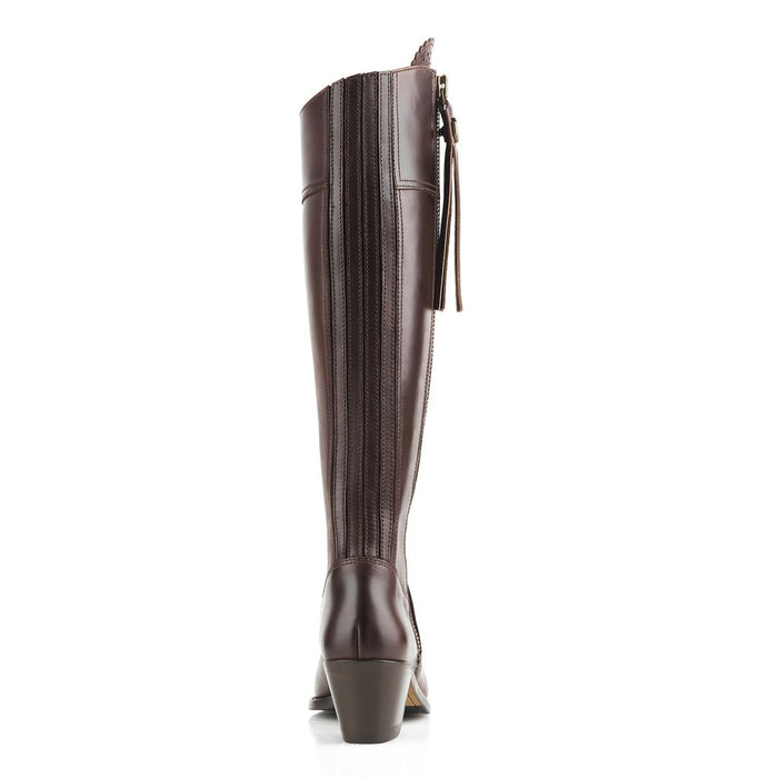 Fairfax & Favor heeled Regina mahogany leather boot - RedMillsStore.ie