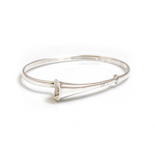 Hiho Sterling Silver Hunting Horn Bangle - RedMillsStore.ie