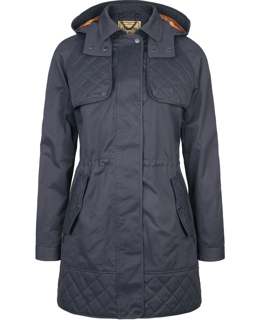 Dubarry Barrington Waterproof Womens Coat in navy - RedMillsStore.ie