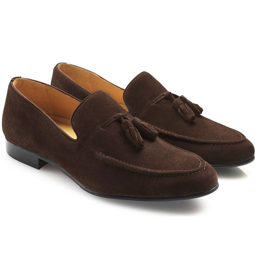 Fairfax & Favor Bedingfield mens suede loafer in chocolate
