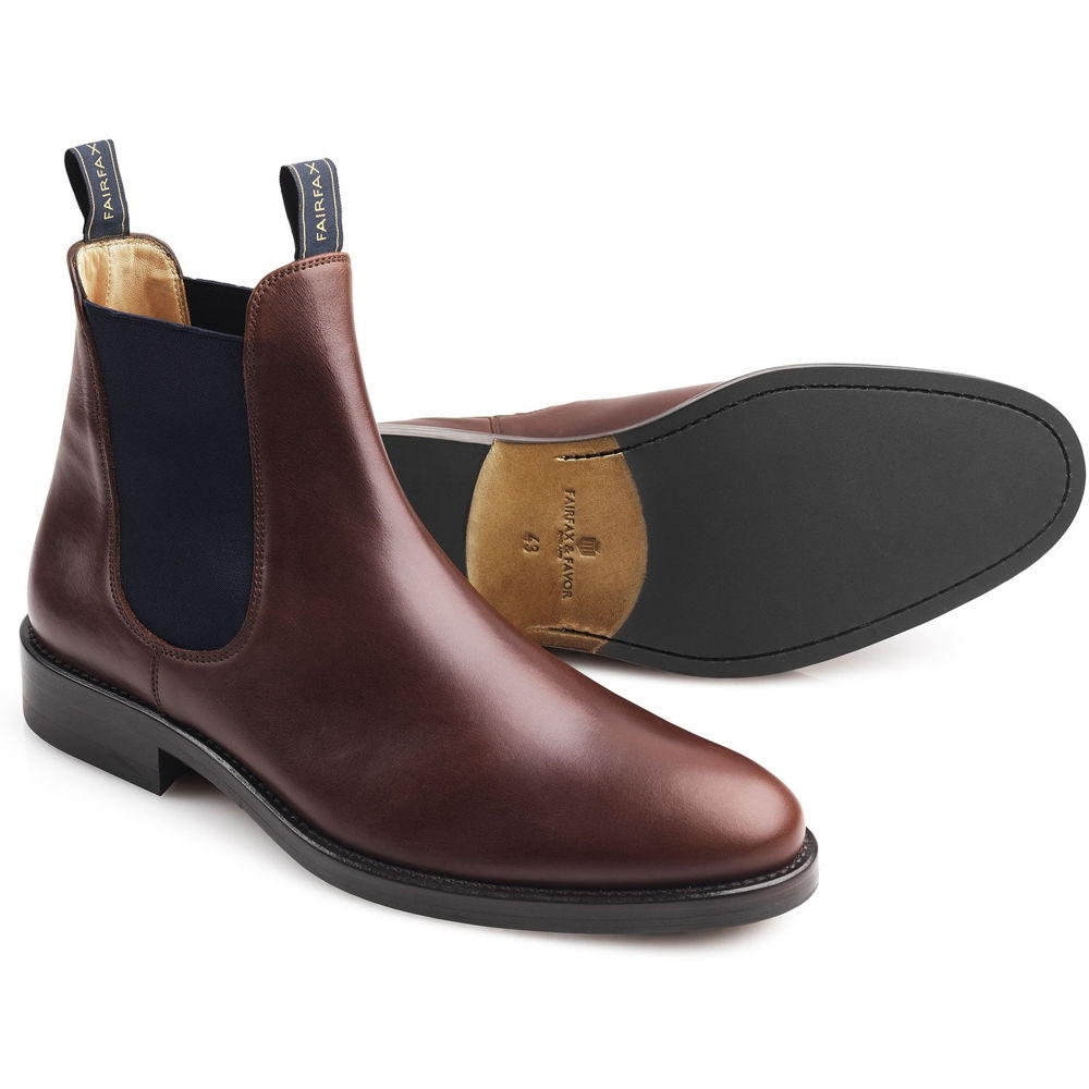 Fairfax & Favor Nelson mens leather ankle boot in mahogany