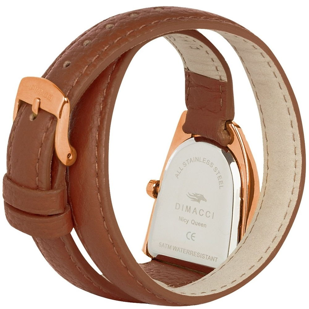 Dimacci Nicy Queen II Watch in tan & rose gold