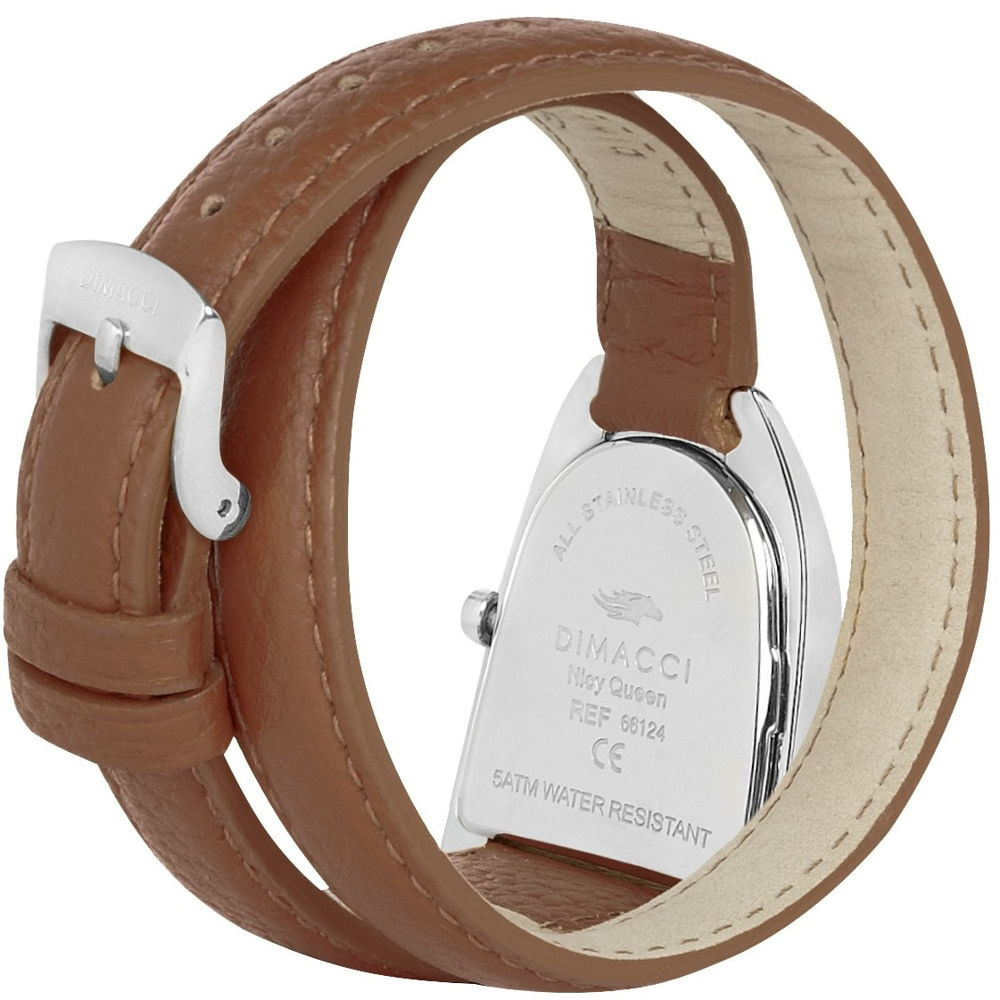 Dimacci Nicy Queen II Watch in tan & silver - RedMillsStore.ie