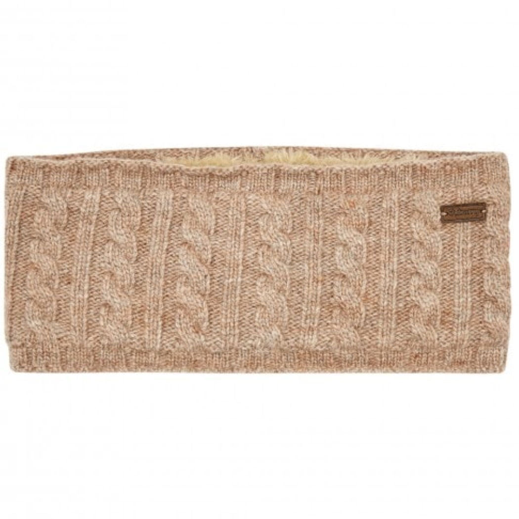 Dubarry knitted headband in stone - RedMillsStore.ie