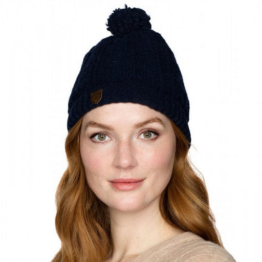 Dubarry Keadue Knitted Hat in navy - RedMillsStore.ie