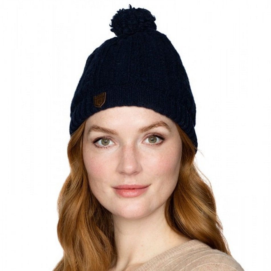 Dubarry Keadue Knitted Hat in oatmeal - RedMillsStore.ie