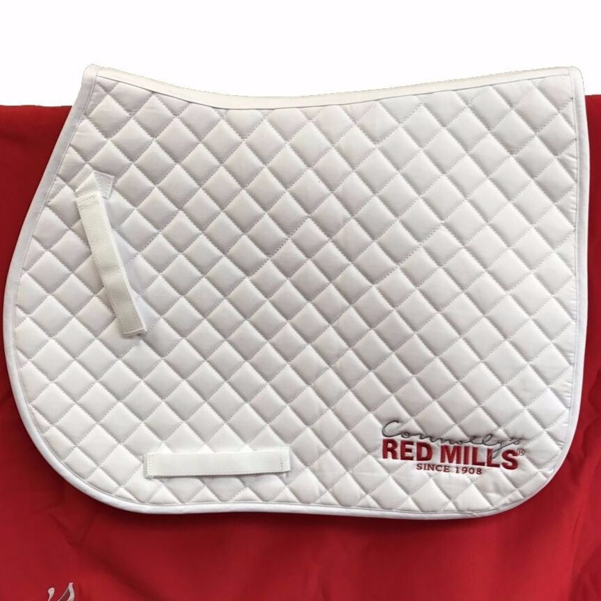 Red Mills Saddle Cloth in white