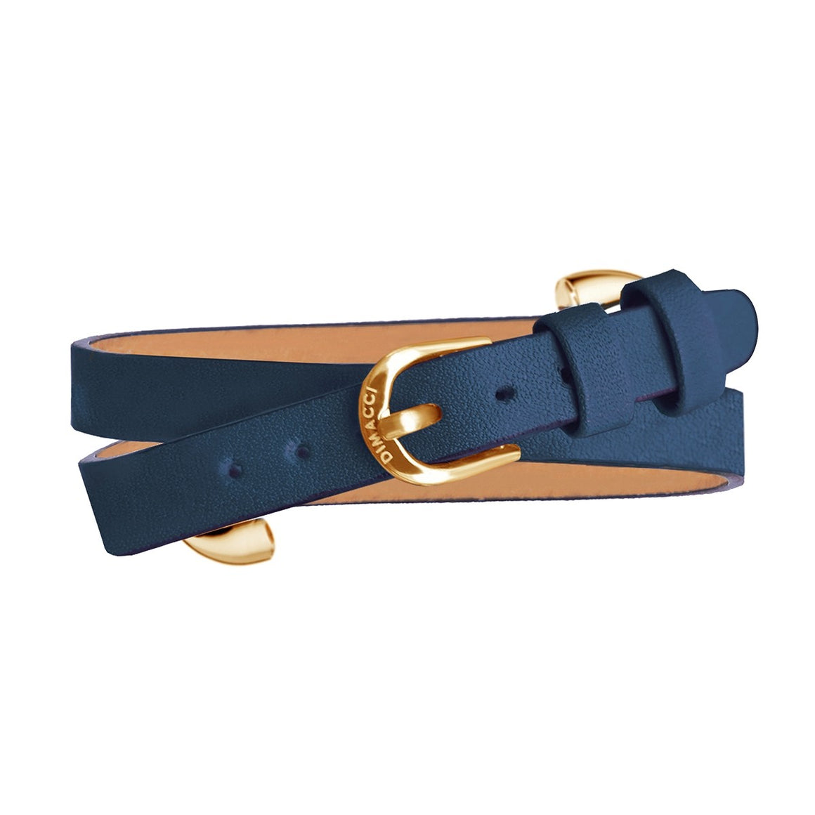 Dimacci Klimke Collection horse bit bracelet in navy blue & gold - RedMillsStore.ie