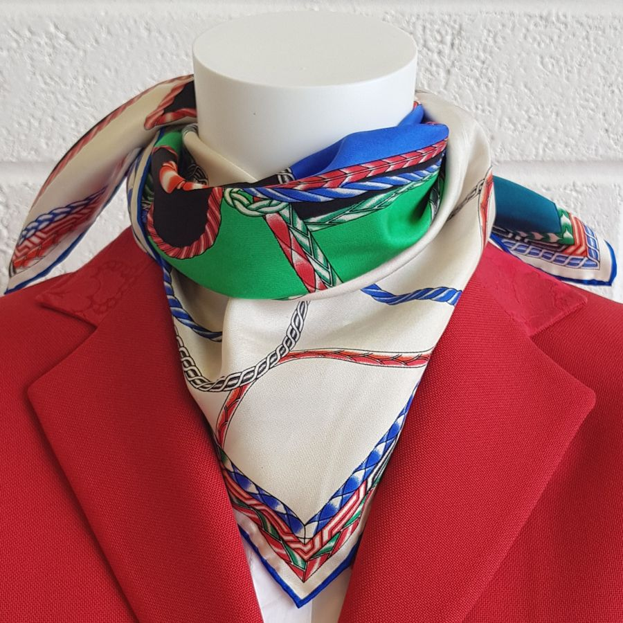 'Chantilly' Horse head silk scarf - RedMillsStore.ie