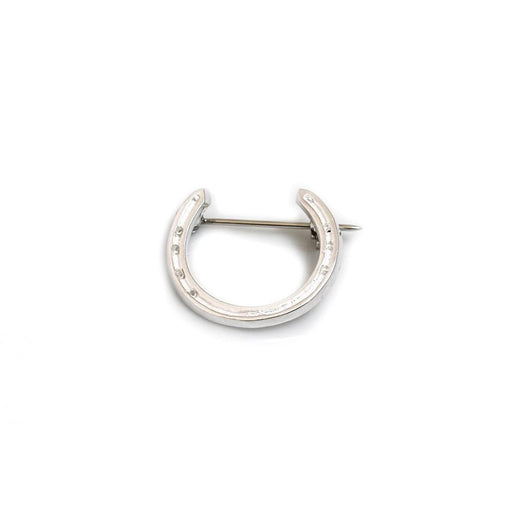 Hiho Sterling Silver Horseshoe Brooch - RedMillsStore.ie