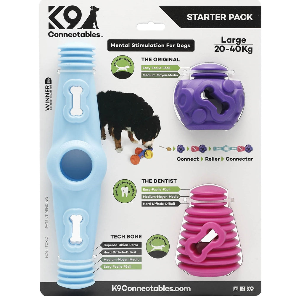 K9 Connectables Large Starter Pack - Blue, Pink & Purple - RedMillsStore.ie