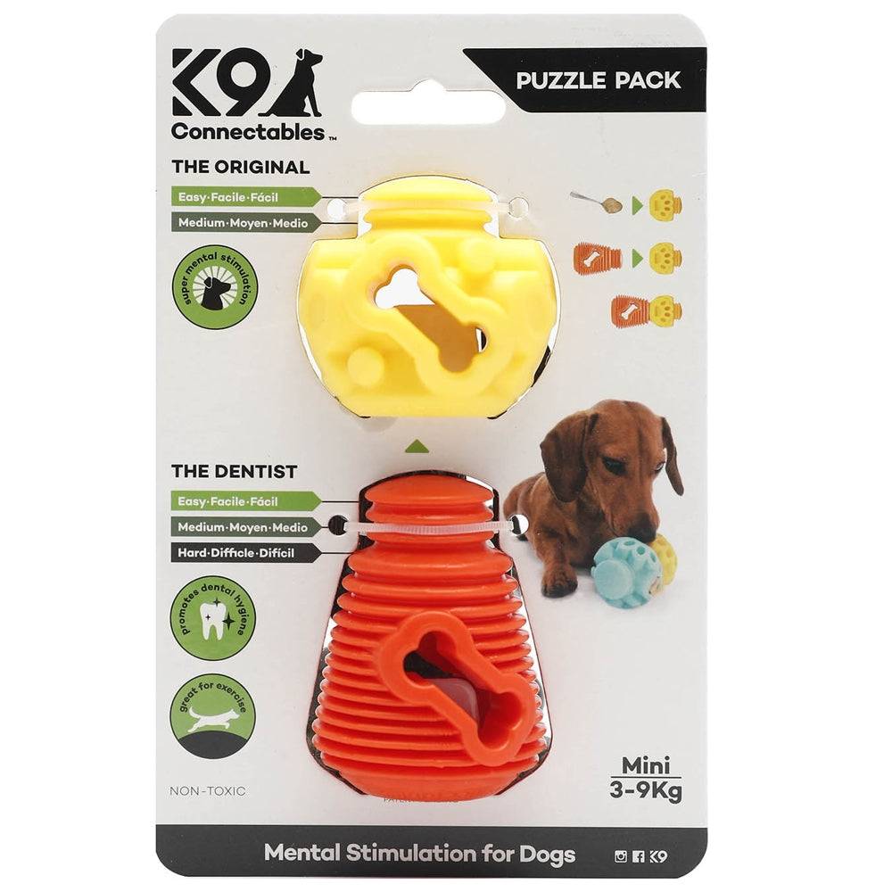K9 Connectables Mini Puzzle Pack - Orange & Yellow - RedMillsStore.ie