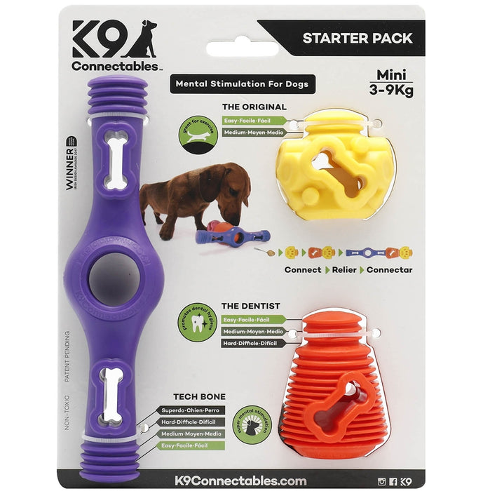 K9 Connectables Mini Starter Pack - Purple, Orange & Yellow - RedMillsStore.ie