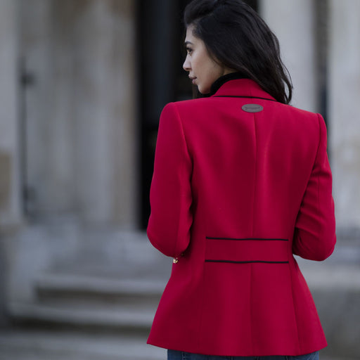 Welligogs Kuoni womens blazer jacket in red - RedMillsStore.ie