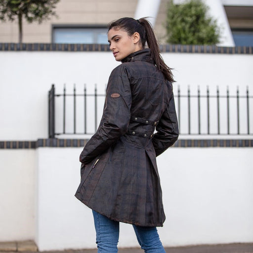 Welligogs Louise Deluxe Check Wax Womens Coat - RedMillsStore.ie