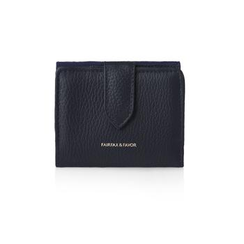 THE CANTERBURY Navy Leather and Suede Purse - RedMillsStore.ie