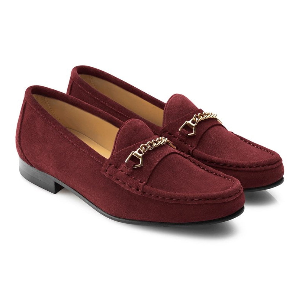 Fairfax & Favor Apsley womens suede loafer in oxblood - RedMillsStore.ie