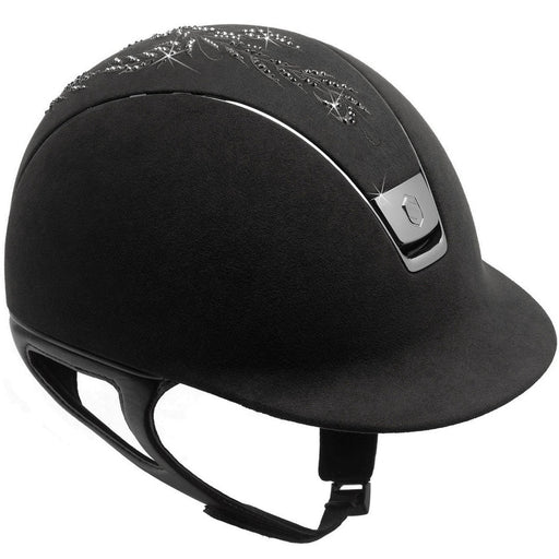 Samshield Premium helmet black alcantara with flower Swarovski top - RedMillsStore.ie
