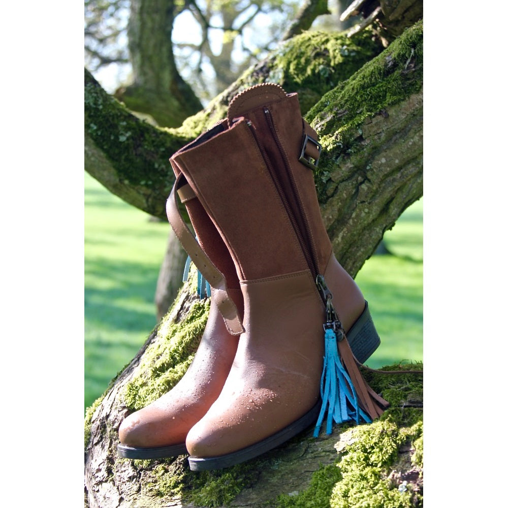 Welligogs 'Mayfair Mini' Leather Womens Boot - Tan - RedMillsStore.ie