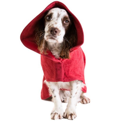 Ruff and Tumble Dog Drying Coat (medium breeds) in red - RedMillsStore.ie