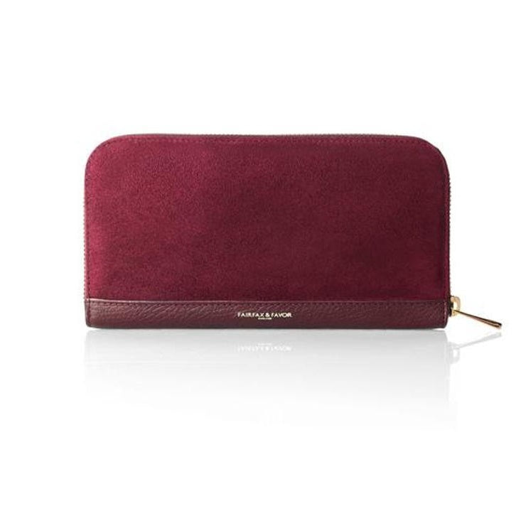 Fairfax & Favor Salisbury Oxblood Leather Purse - RedMillsStore.ie