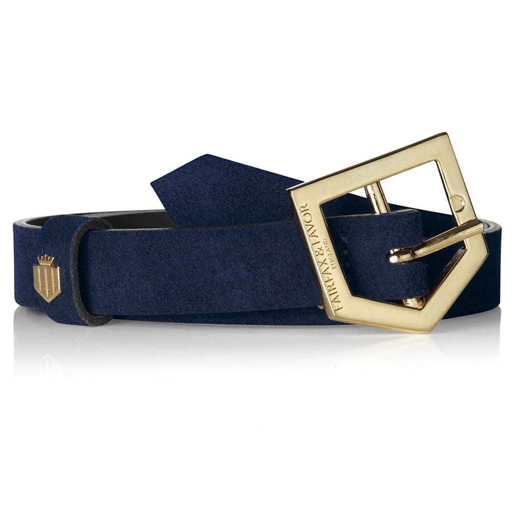 Fairfax & Favor Sennowe suede belt navy