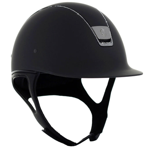 Samshield Shadowmatt helmet in black with 255 Swarovski crystals - RedMillsStore.ie