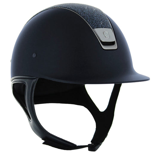 Samshield Shadowmatt helmet in blue with Swarovski fabric top - RedMillsStore.ie