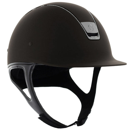 Samshield Shadowmatt helmet in brown with 255 Swarovski crystals - RedMillsStore.ie