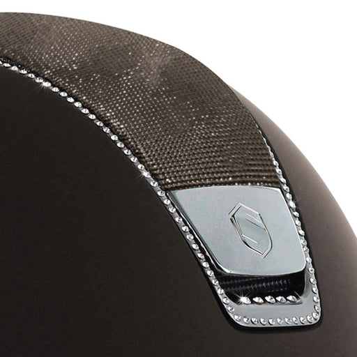 Samshield Shadowmatt helmet in brown with shimmer top & 255 Swarovski crystals - RedMillsStore.ie
