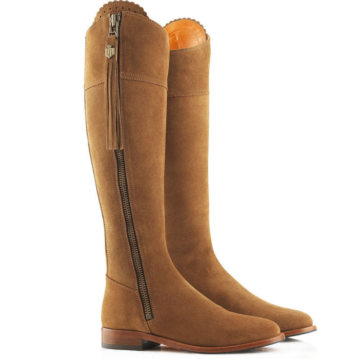 Fairfax & Favor Regina Tan suede boot - sporting fit - RedMillsStore.ie