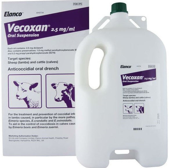 Vecoxan Oral Suspension for Lambs & Calves - RedMillsStore.ie