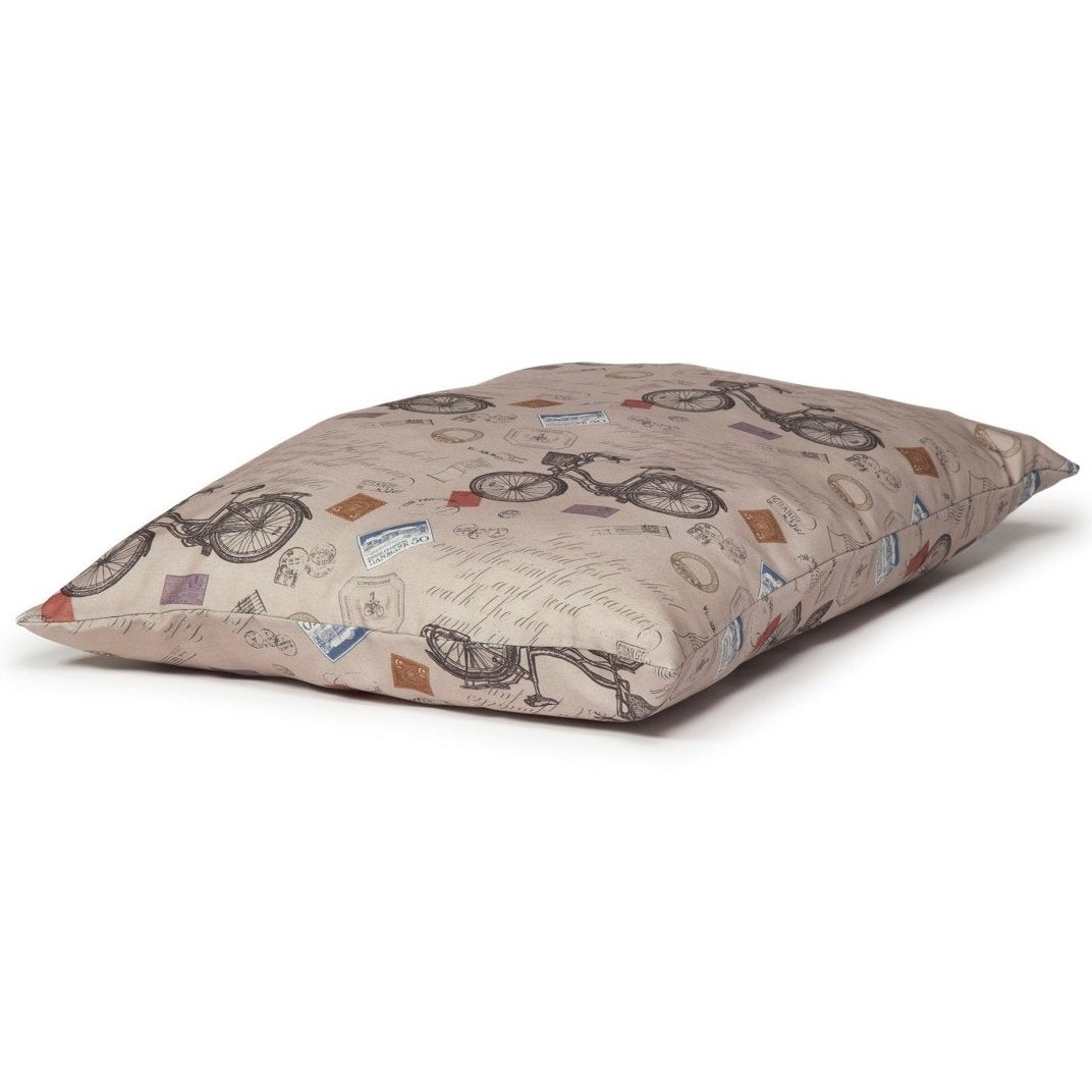 Danish Design Vintage Bicycles Deep Duvet Dog Bed - RedMillsStore.ie