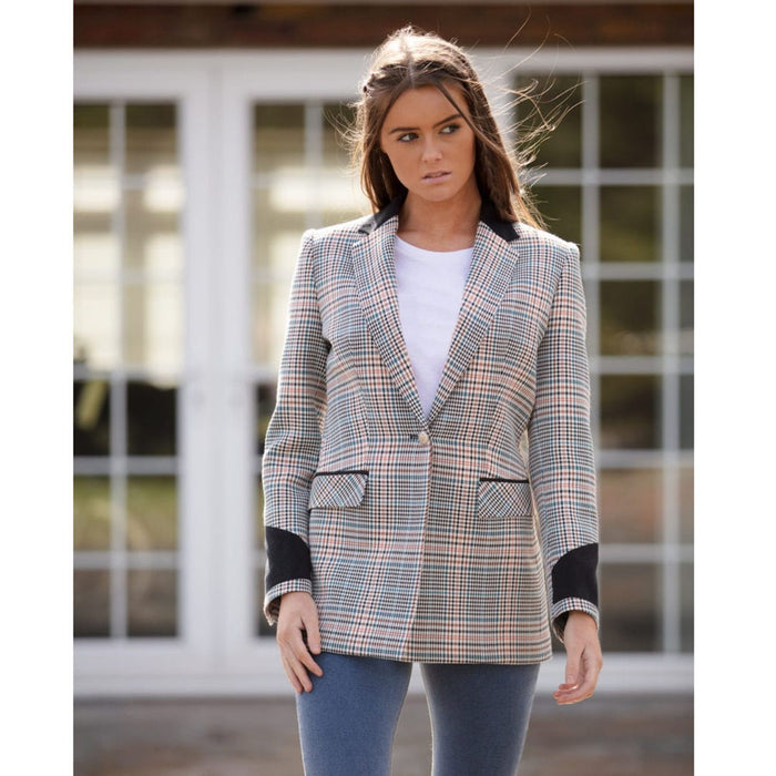 Welligogs 'Hoxton' womens tailored check blazer - RedMillsStore.ie