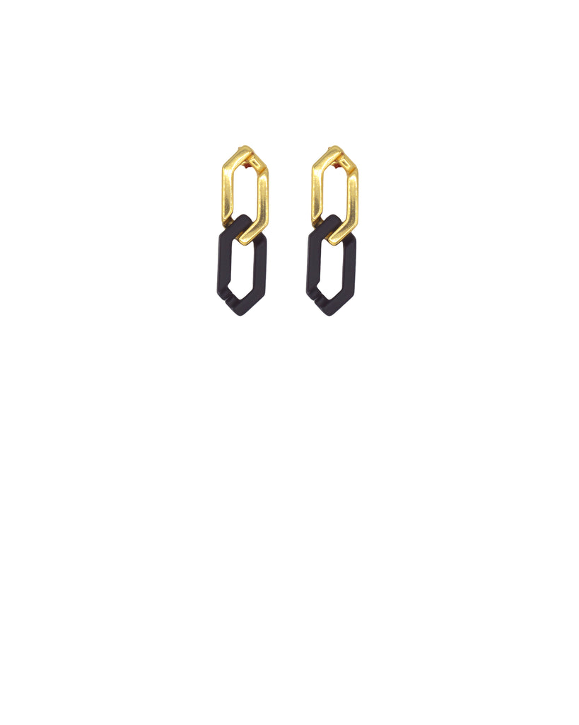 BLACK N GOLD GOGO PHILIP CLASSIC EARRING