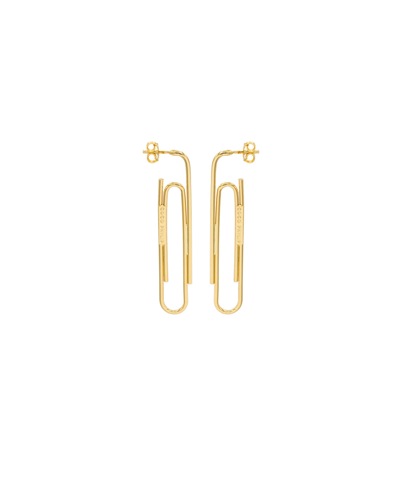 PAPER CLIP EARRINGS GOLD