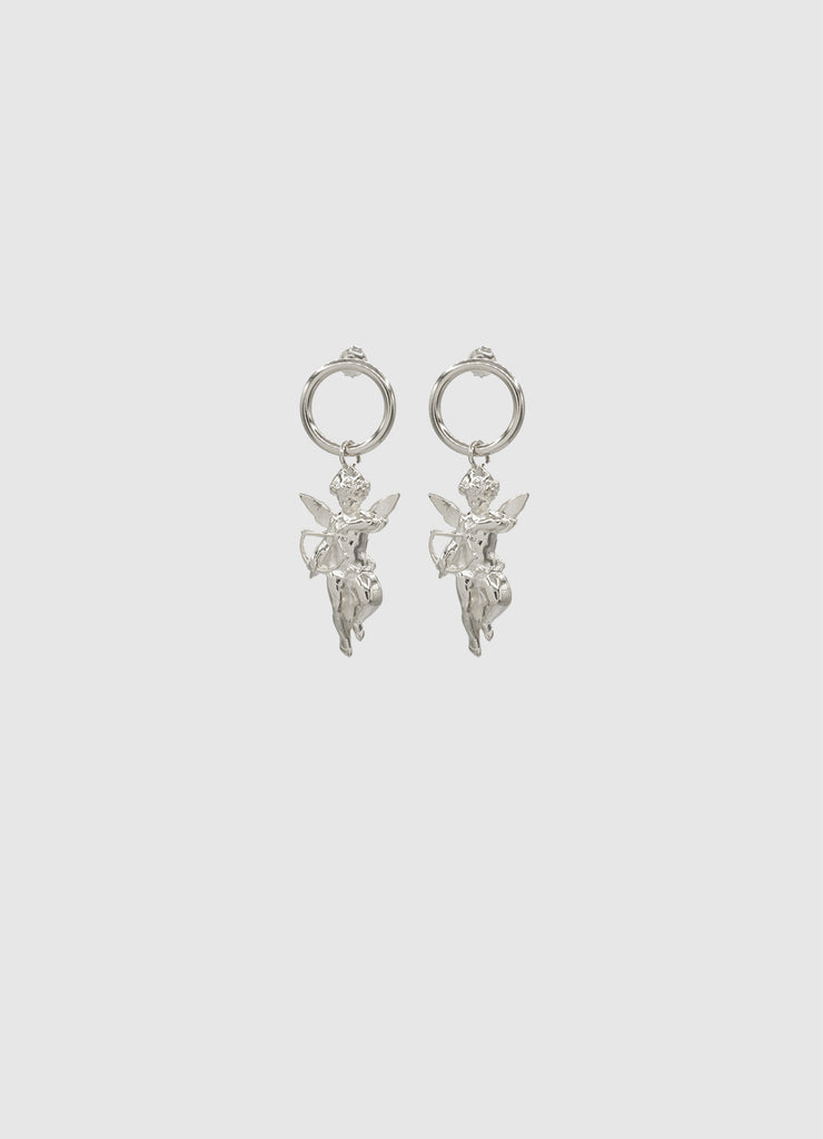 CHERUB EARRINGS SILVER