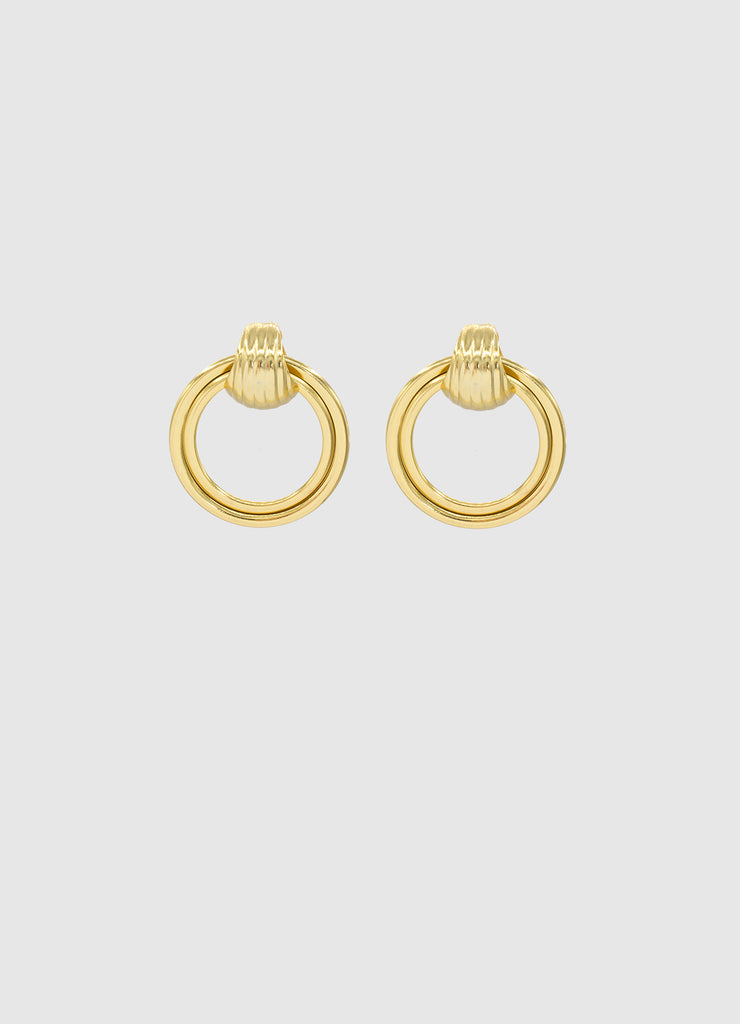 SHELLY FLAT HOOPS