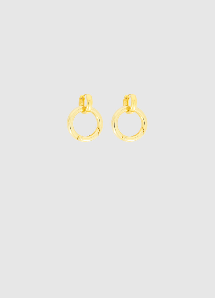 CLASSIC SNAP GOLD EARRINGS