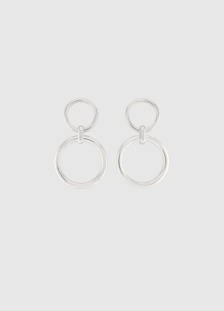 CLASSIC MELODY SILVER DOUBLE HOOPS