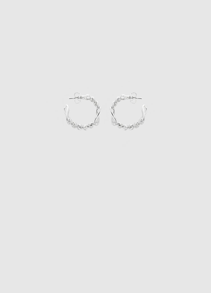 CLASSIC LIL' JUNE SILVER HOOPS
