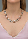 COLUMBUS SILVER NECKLACE