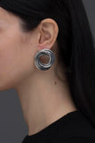 METEORA EARRINGS ANTIQUE SILVER