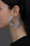 COMET HOOPS ANTIQUE SILVER