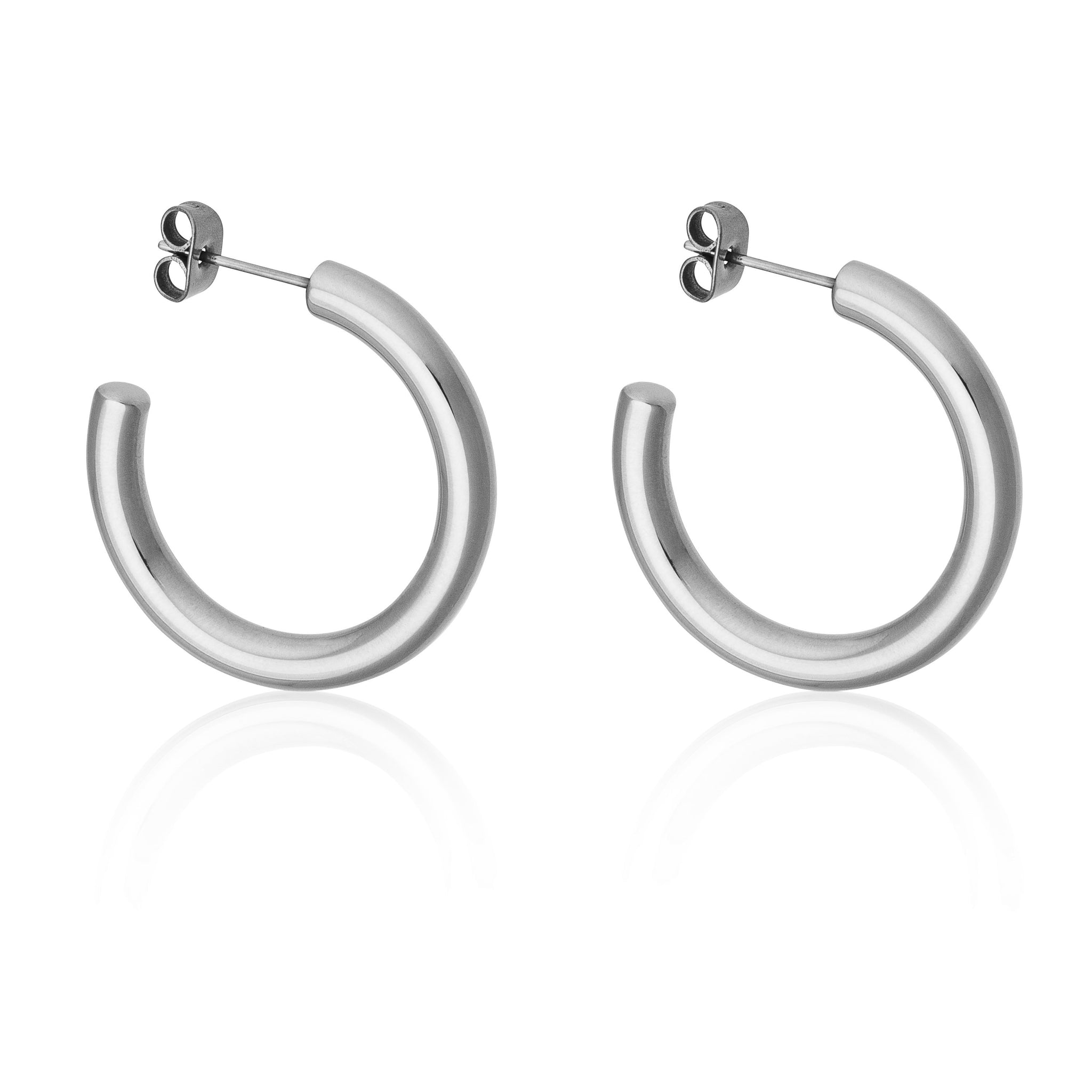 30MM THICK HOOPS | Earrings | Tini Lux