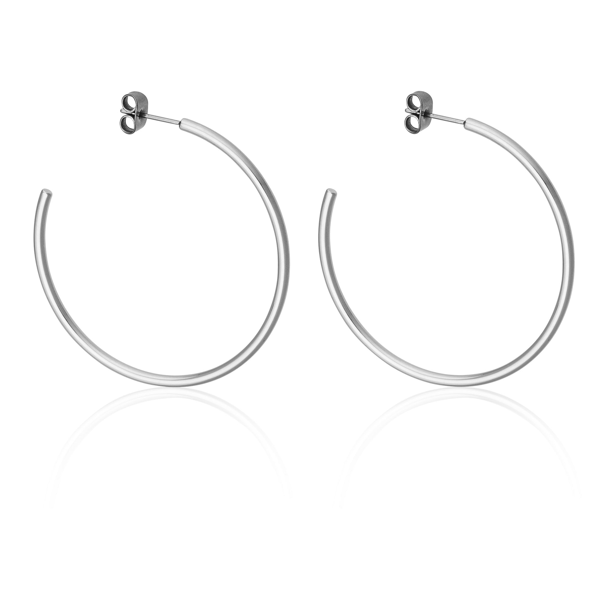 45MM SKINNY HOOPS | Earrings | Tini Lux