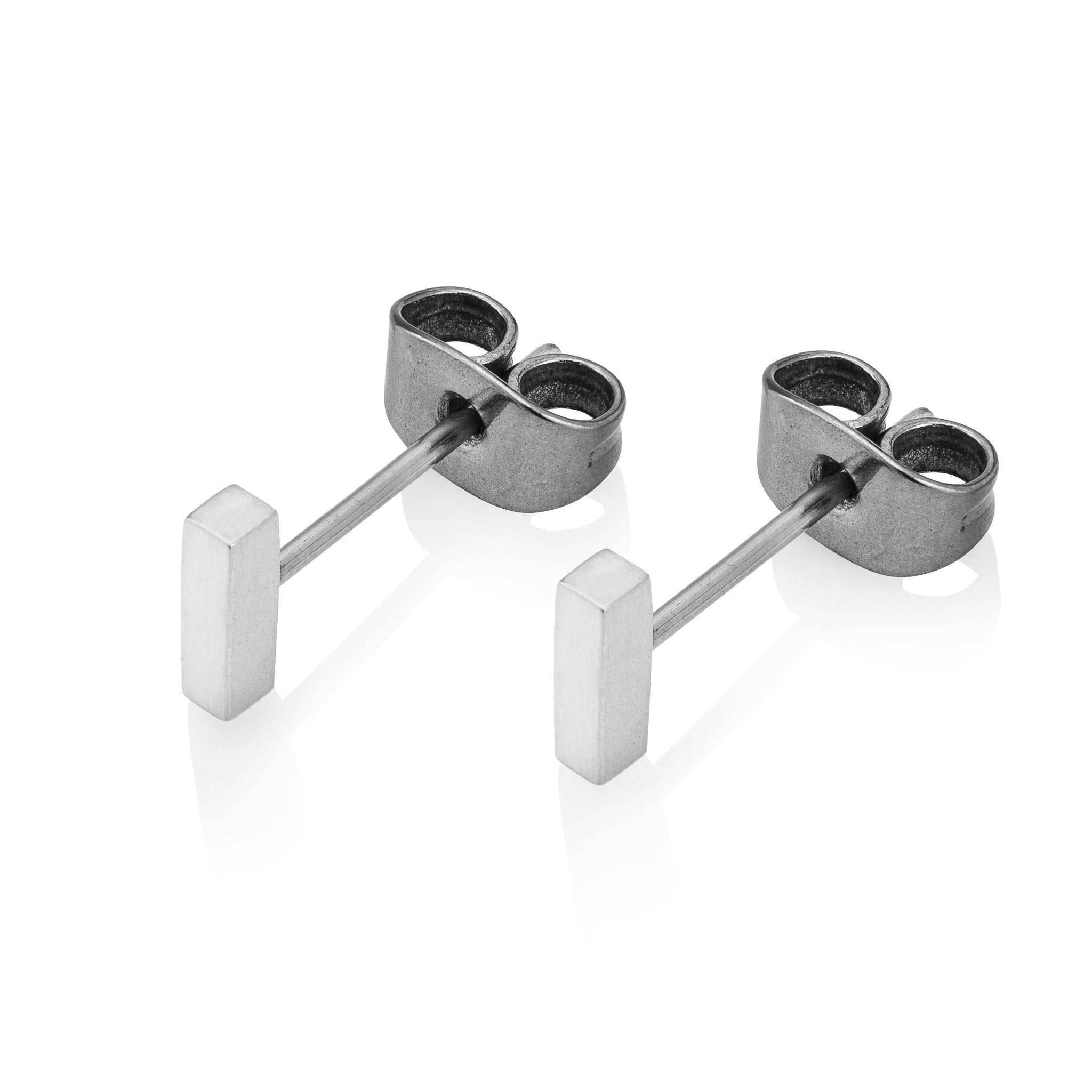 THE BAR STUDS IN SILVER