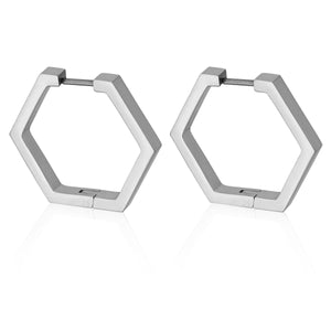 20MM HEX HOOPS | Earrings | Tini Lux